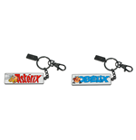 Asterix Names Reversible Metal Keychain