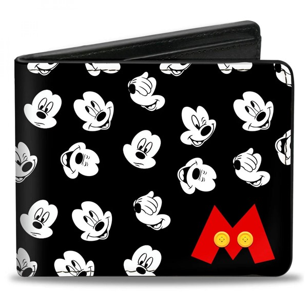 Mickey Mouse Faces Bi-Fold Wallet