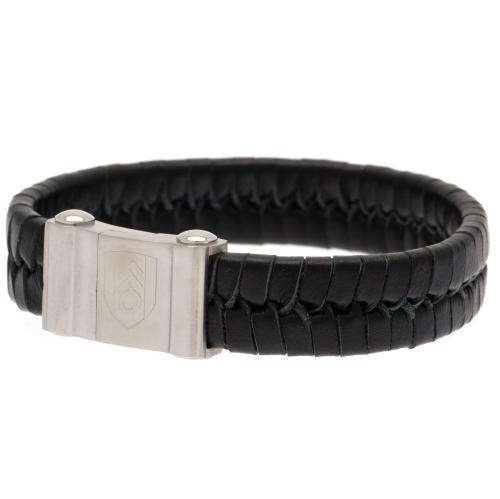 Fulham F.C. Single Plait Leather Bracelet