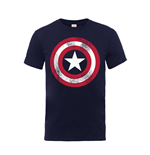 Marvel Comics T-Shirt Captain America Distressed Shield
