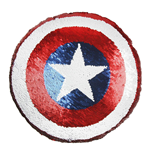 Avengers Sequin Pillow Captain America 30 x 30 cm