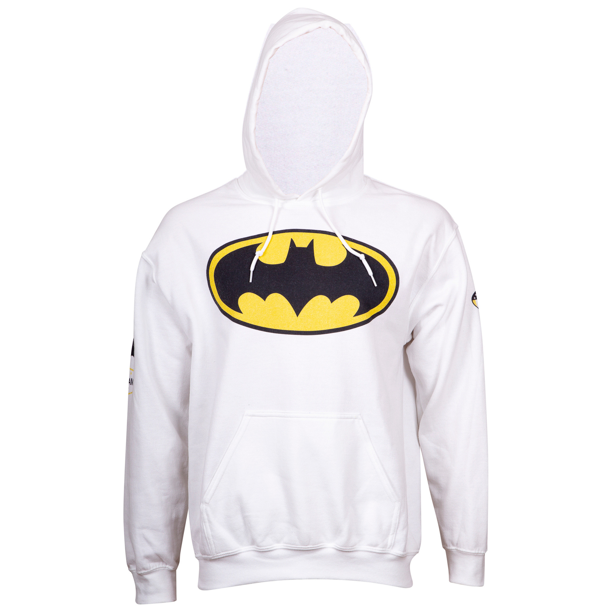 Batman 80th Symbol White Hoodie