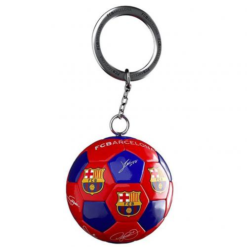 FC Barcelona Football Keyring Signature