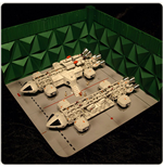 Space 1999 Moonbase Double Eagle Hangar
