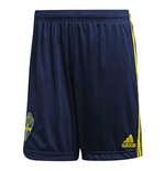 2020-2021 Sweden Home Adidas Football Shorts (Navy)