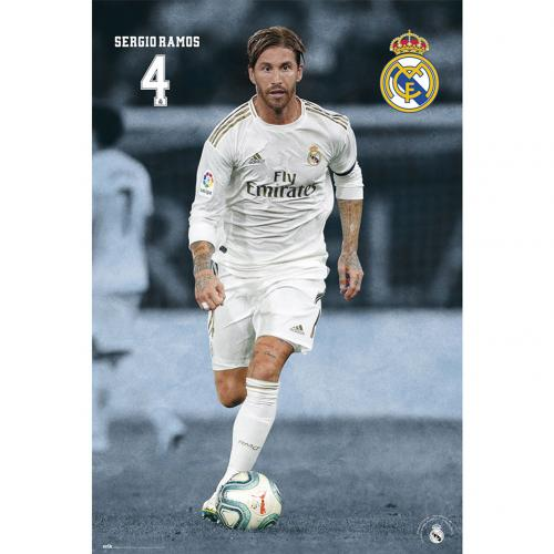 Real Madrid FC Poster Ramos 23