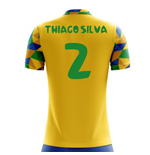 2018-2019 Brazil Home Concept Football Shirt (Thiago Silva 2)
