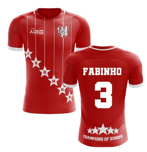 2019-2020 Liverpool 6 Time Champions Concept Football Shirt (Fabinho 3)