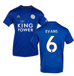 2019-2020 Leicester City Home Football Shirt (EVANS 6)