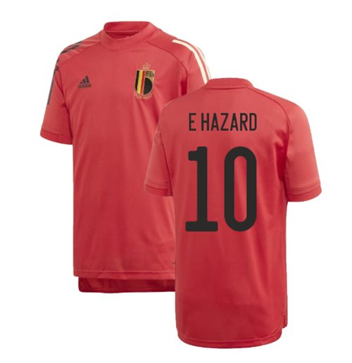 2020-2021 Belgium Adidas Training Shirt (Red) - Kids (E HAZARD 10)