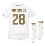 2019-2020 Real Madrid Adidas Home Full Kit (Kids) (VINICIUS JR 28)