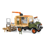 SCHLEICH Wild Life Animal Rescue Large Truck with Toy Figures & Accessories