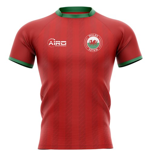 2019-2020 Wales Home Concept Rugby Shirt - Adult Long Sleeve