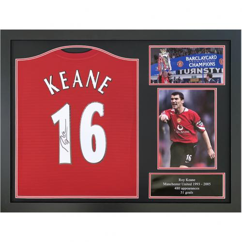 Manchester United FC Keane Signed Shirt (Framed)