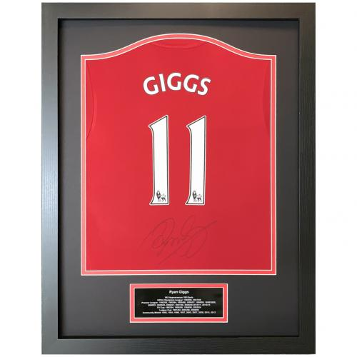 Manchester United FC Giggs Signed Shirt (Framed)