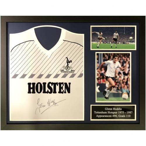 Tottenham Hotspur FC Hoddle Signed Shirt (Framed)