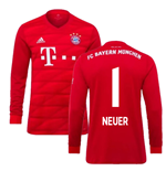 2019-2020 Bayern Munich Adidas Home Long Sleeve Shirt (NEUER 1)