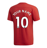 2019-2020 Man Utd Adidas Training Tee (Red) (Your Name)