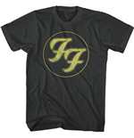 Foo Fighters Unisex Tee: Gold FF Logo