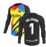 2019-2020 Barcelona Home Nike Goalkeeper Shirt (Yellow) (TER STEGEN 1)