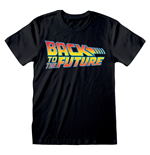 UNIVERSAL Back to the Future Vintage Logo T-Shirt, Unisex, Small, Black