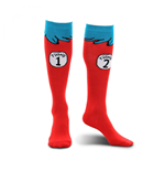 Dr Seuss Thing 1 and 2 Socks