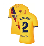 2019-2020 Barcelona Away Nike Football Shirt (N SEMEDO 2)