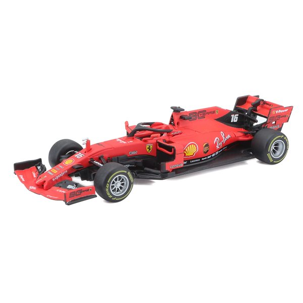 Bburago - F1 Sf90 Team Ferrari 2019 (Assortment #5 Vettel / #16 Leclerc)