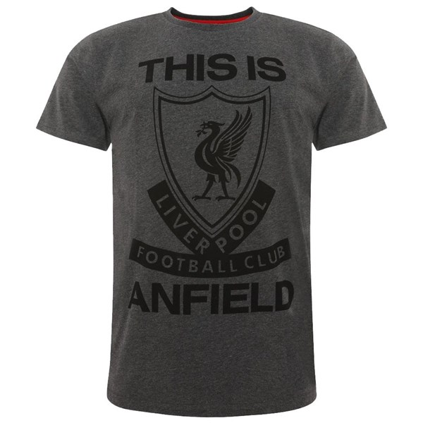 Liverpool FC TIA T Shirt Mens Charcoal M