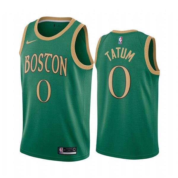 Men's Boston Celtics Jayson Tatum Nike Green City Edition Swingman Jersey
