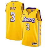 Men's Los Angeles Lakers Anthony Davis Nike Gold City Edition Swingman Jersey