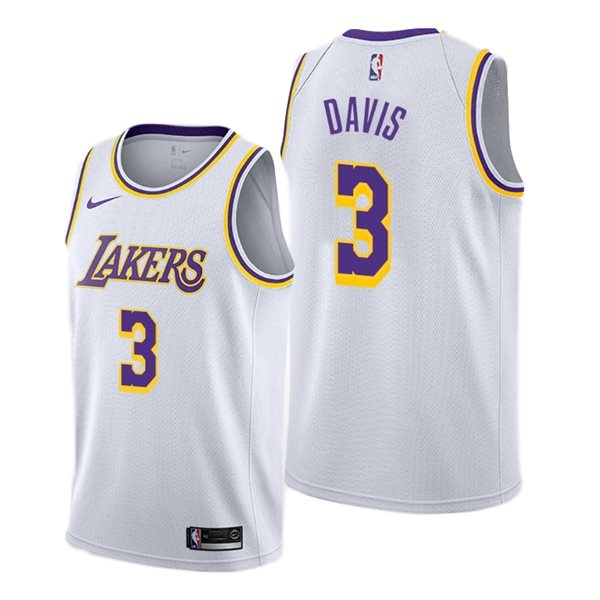 Men's Los Angeles Lakers Anthony Davis Nike White Association Edition Swingman Jersey