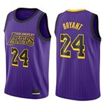 Men's Los Angeles Lakers Kobe Bryant Nike Purple Show Time Edition Swingman Jersey