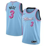 Men's Miami Heat Dwyane Wade Nike Blue City Edition Swingman Jersey