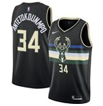 Men's Milwaukee Bucks Giannis Antetokounmpo Nike Black Statement Edition Swingman Jersey