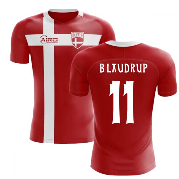 2018-2019 Denmark Flag Concept Football Shirt (B Laudrup 11) - Kids