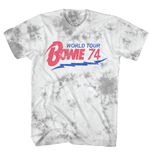 Bowie World Tour 1974 Tie Dyed T-Shirt