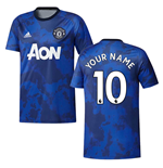 2019-2020 Man Utd Adidas Pre-Match Training Shirt (Mystery Ink) (Your Name)