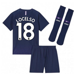 2019-2020 Tottenham Away Nike Little Boys Mini Kit (Lo Celso 18)