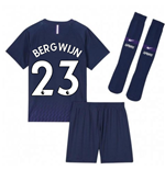 2019-2020 Tottenham Away Nike Little Boys Mini Kit (Bergwijn 23)