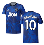 2019-2020 Man Utd Adidas Pre-Match Training Shirt (Mystery Ink) (RASHFORD 10)