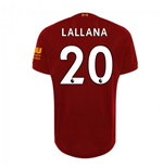 2019-2020 Liverpool Home Football Shirt (Lallana 20) - Kids