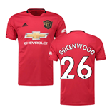 2019-2020 Man Utd Adidas Home Football Shirt (Kids) (Greenwood 26)