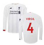 2019-2020 Liverpool Away Long Sleeve Shirt (Virgil 4)