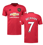 2019-2020 Man Utd Adidas Home Football Shirt (Kids) (BECKHAM 7)