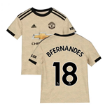 2019-2020 Man Utd Adidas Away Football Shirt (Kids) (B Fernandes 18)
