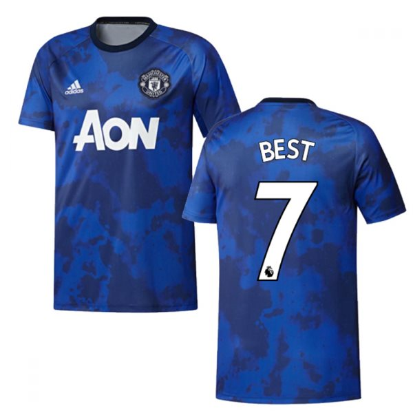 2019-2020 Man Utd Adidas Pre-Match Training Shirt (Mystery Ink) (BEST 7)
