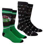 Friends TV Show Central Perk 2-Pack Casual Crew Socks
