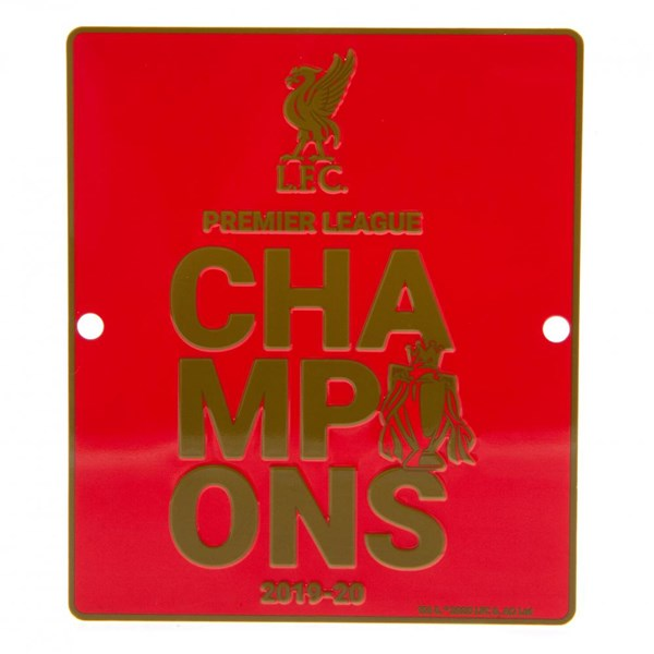 Liverpool FC Premier League Champions Window Sign