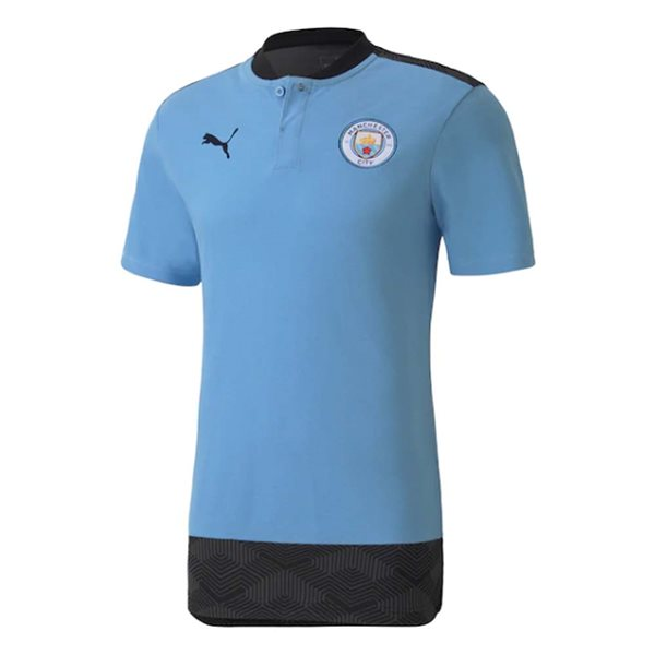 2020-2021 Manchester City Puma Casuals Polo Shirt (Light Blue)